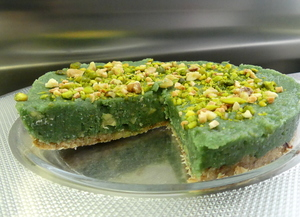 Green cheesecake con espirulina