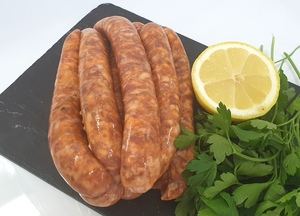 Red pork sausages