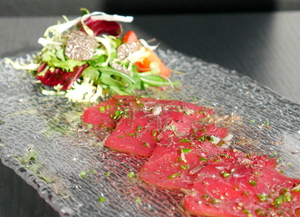 Bluefin tuna carpaccio