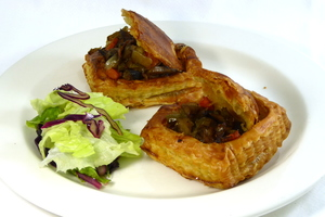 Vegetable filled vol-au-vents