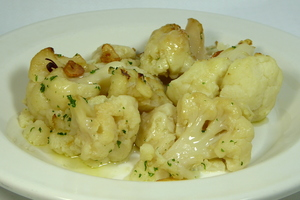 Cauliflower in Ajoarriero style