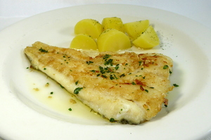 Grilled haddock with steamed potatoes