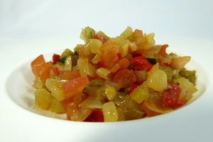 Basic ratatouille (Fine dining)
