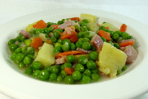 Pea and potato stew
