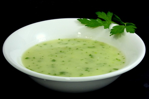 Green sauce made with fumet