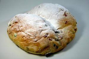 Stollen or Christstollen «German Christmas bread»