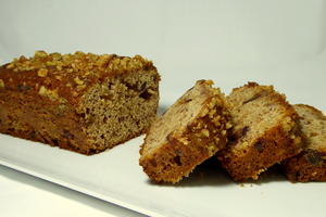 Honey cake with dates and walnuts