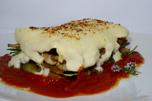 Vegetables lasagna
