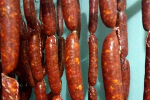 Fresh homemade chorizo