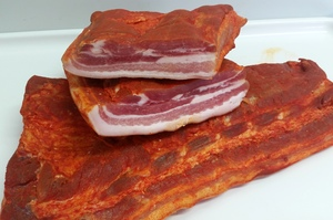 Marinated bacon