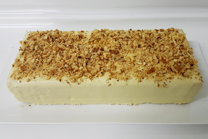Cream and walnut nougat