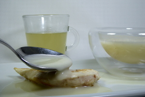 Veloute sauce made with white stock