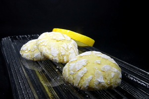 Cracked lemon biscuits