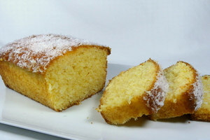 Coconut and marmalade sponge cake