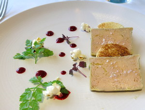 Duck foie gras micuit poached in a traditional way