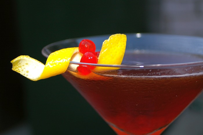 W700 rum manhattan cocktail with maraschino 1