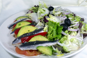 Marinaded anchovy salad