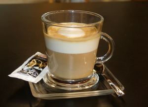 Decaffeinated coffee macchiato