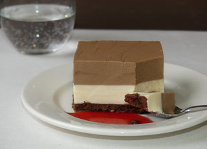 Chocolate and Cream Bavarois Cake