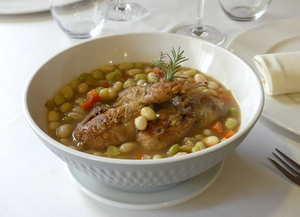 White beans and quail stew