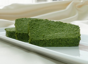 Spinach pudding