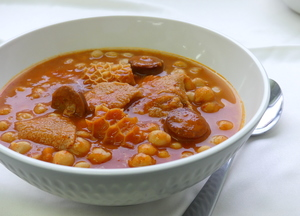 Chickpeas with tripe