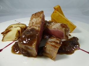 Roasted entrecôt with Rioja wine sauce